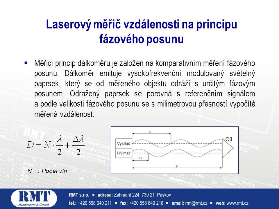 Laserový měřič vzdálenosti na principu