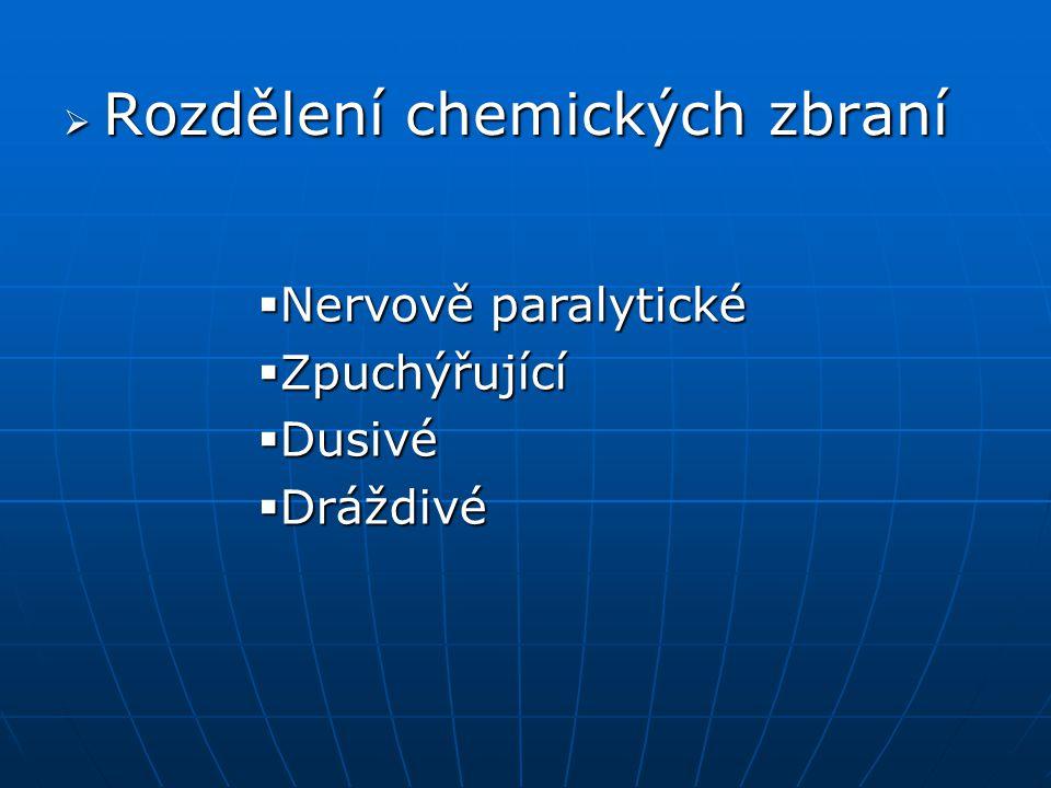 Rozdělení chemických zbraní