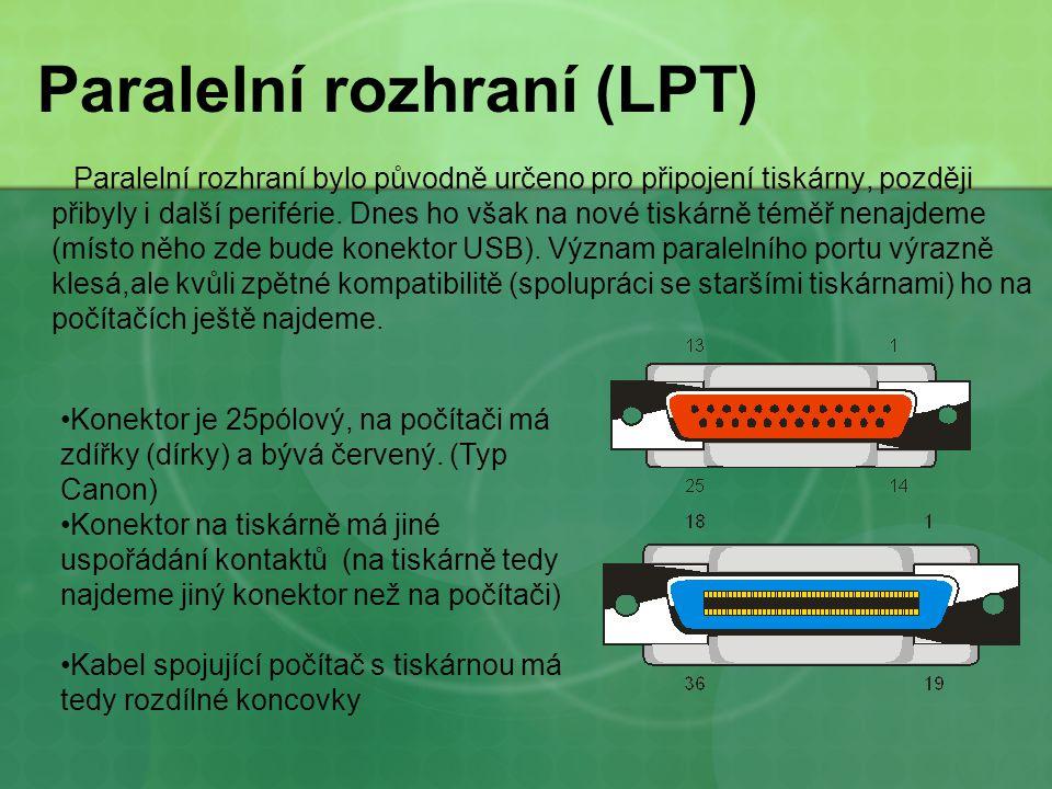 Paralelní rozhraní (LPT)