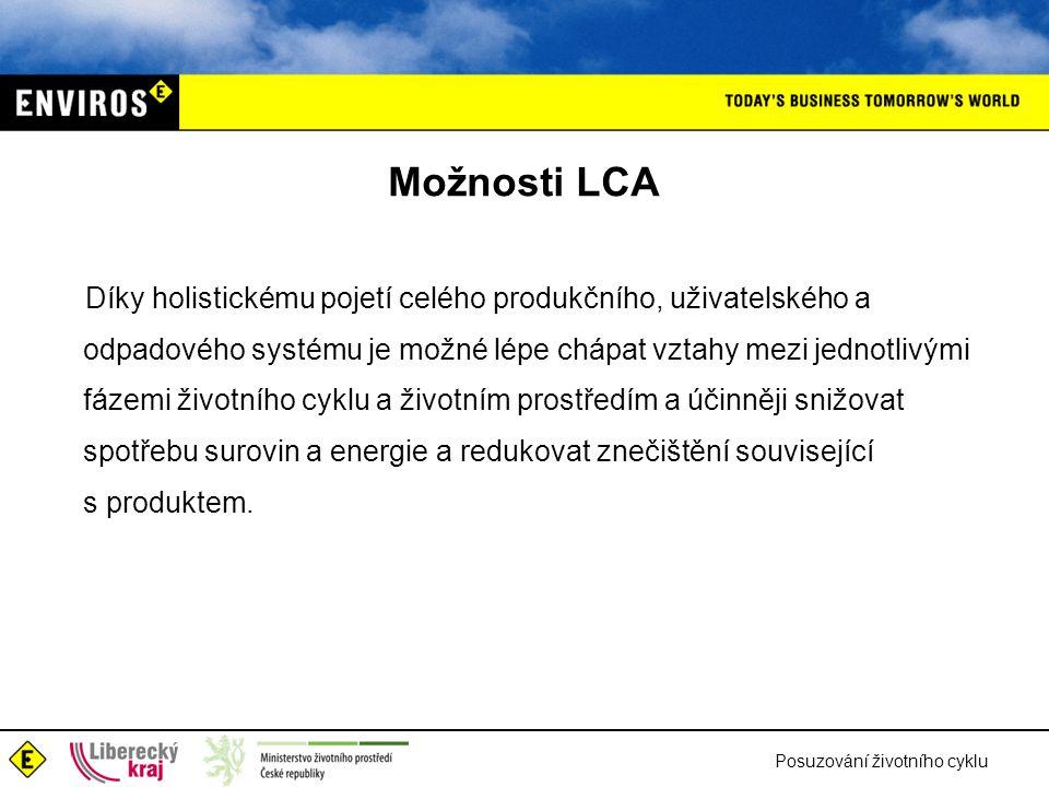 Možnosti LCA