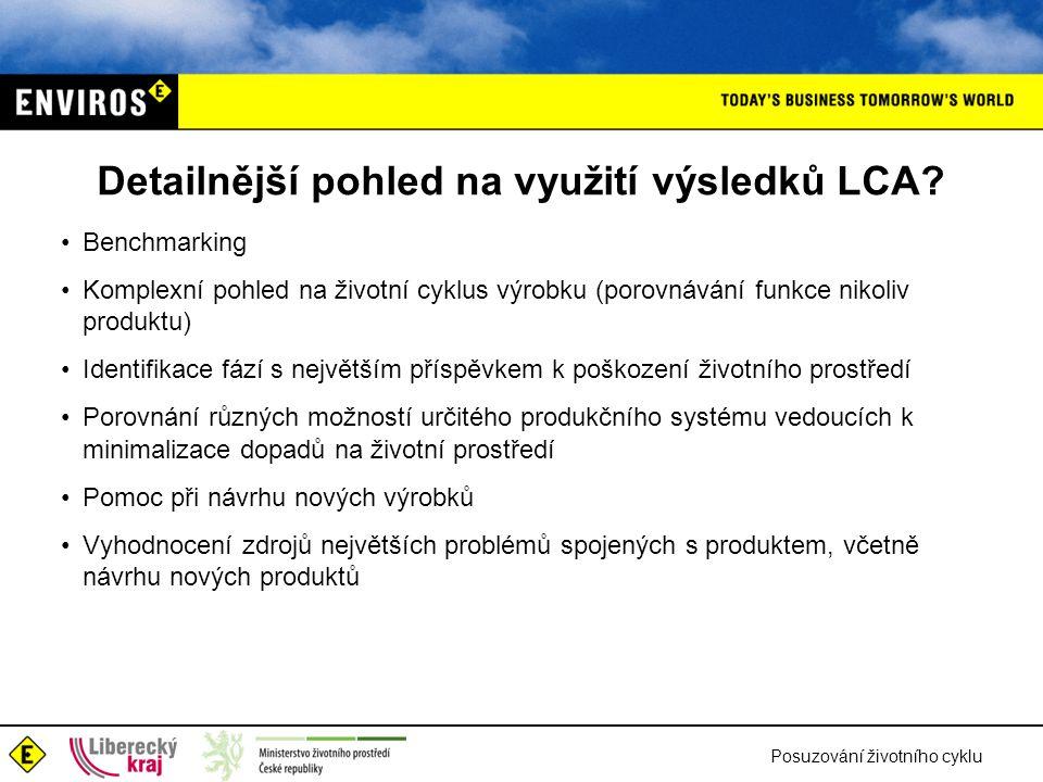 Detailnější pohled na využití výsledků LCA