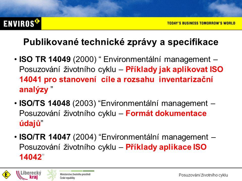 Publikované technické zprávy a specifikace