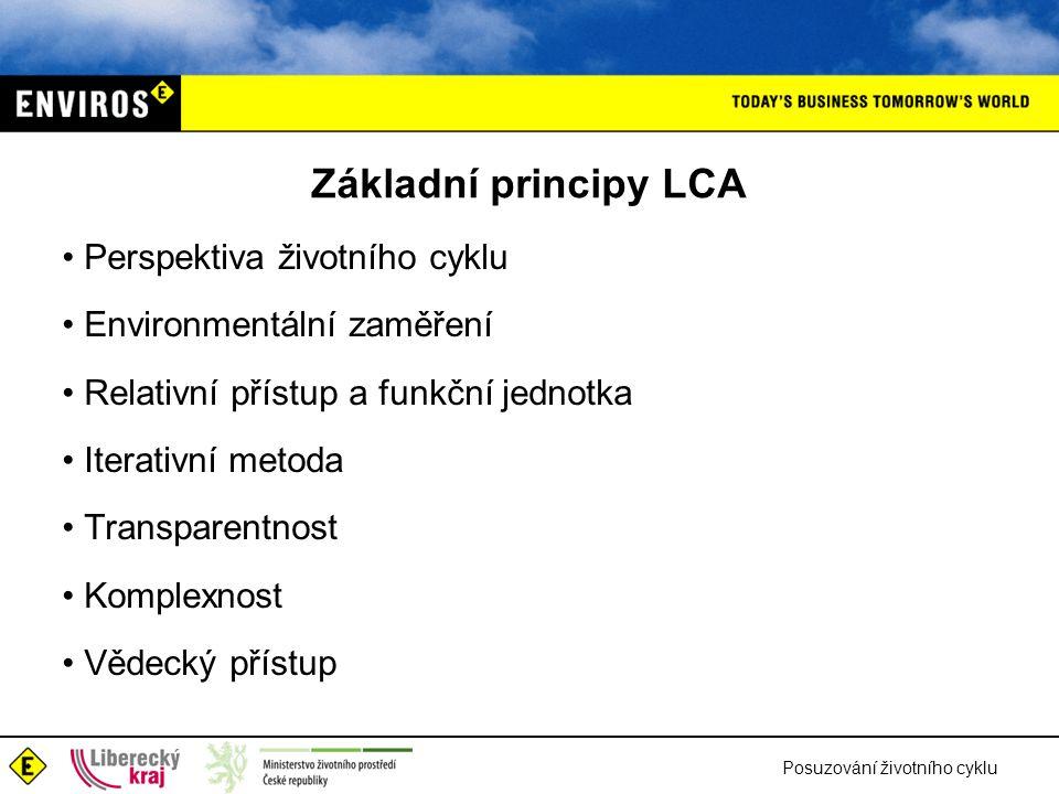 Základní principy LCA Perspektiva životního cyklu