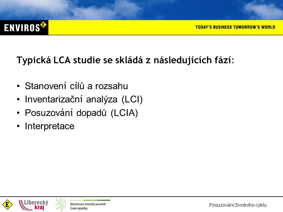 Typická LCA studie se skládá z následujících fází:
