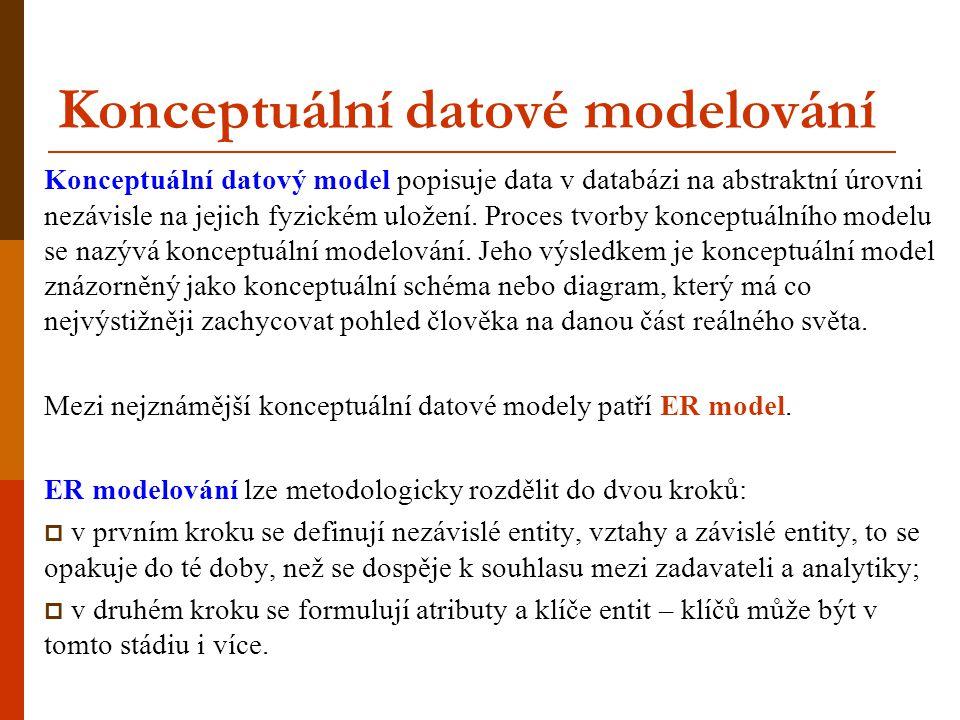 Konceptuální datové modelování