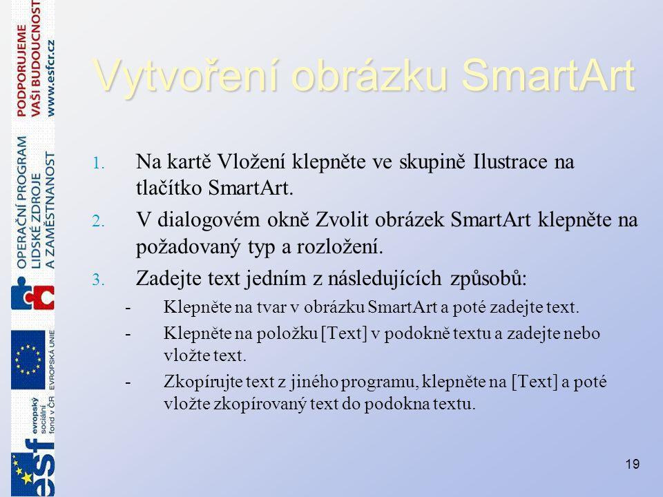 Vytvoření obrázku SmartArt