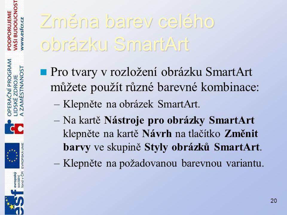 Změna barev celého obrázku SmartArt