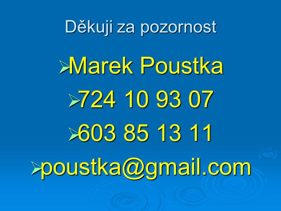 Marek Poustka 724 10 93 07 603 85 13 11 poustka@gmail.com