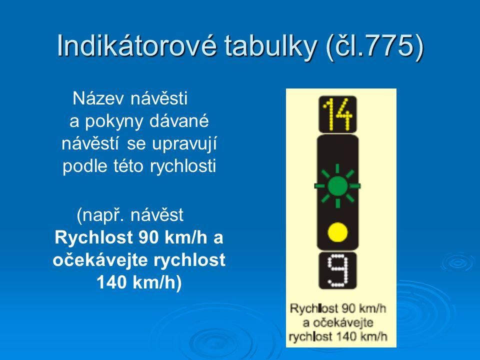 Indikátorové tabulky (čl.775)