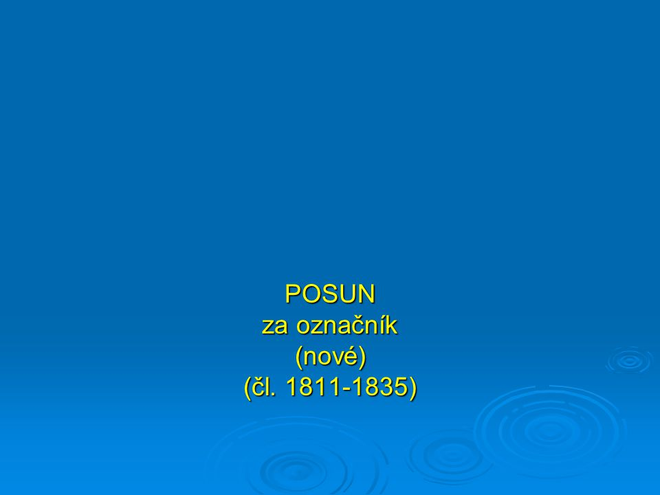 POSUN za označník (nové) (čl. 1811-1835)