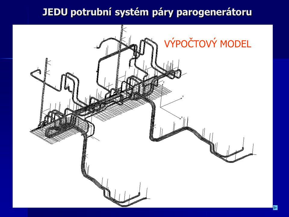 JEDU potrubní systém páry parogenerátoru