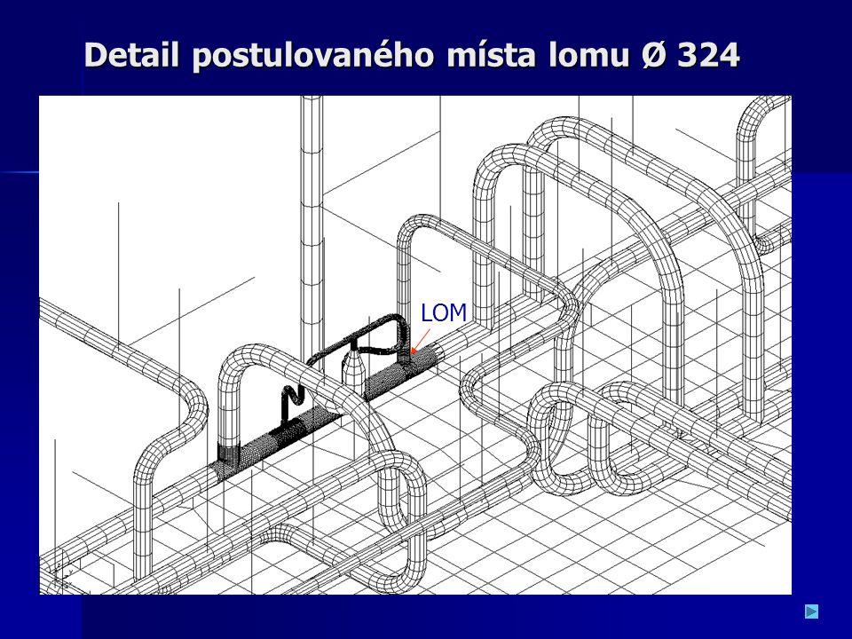 Detail postulovaného místa lomu Ø 324
