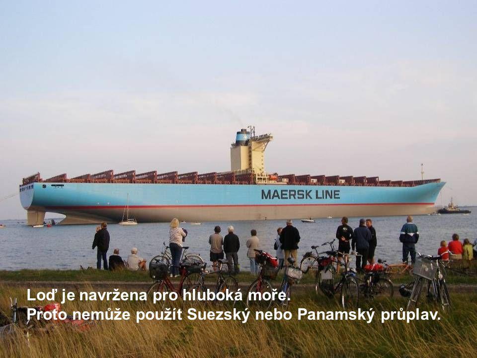 Loď je navržena pro hluboká moře.