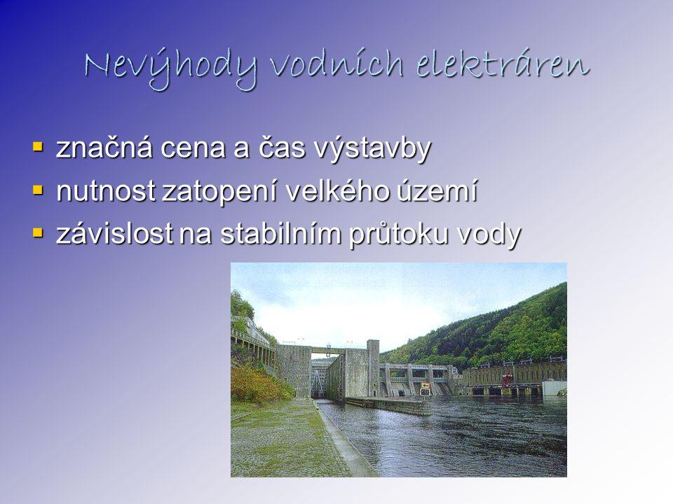 Nevýhody vodních elektráren