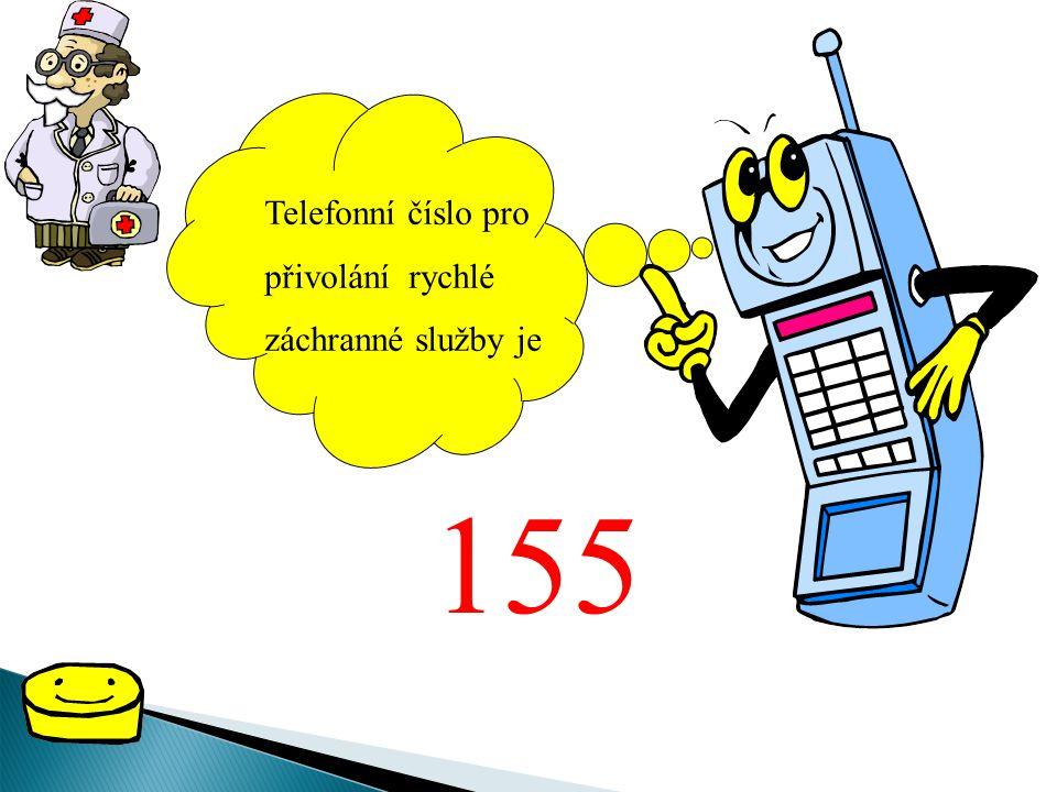 Telefonní číslo pro přivolání rychlé záchranné služby je