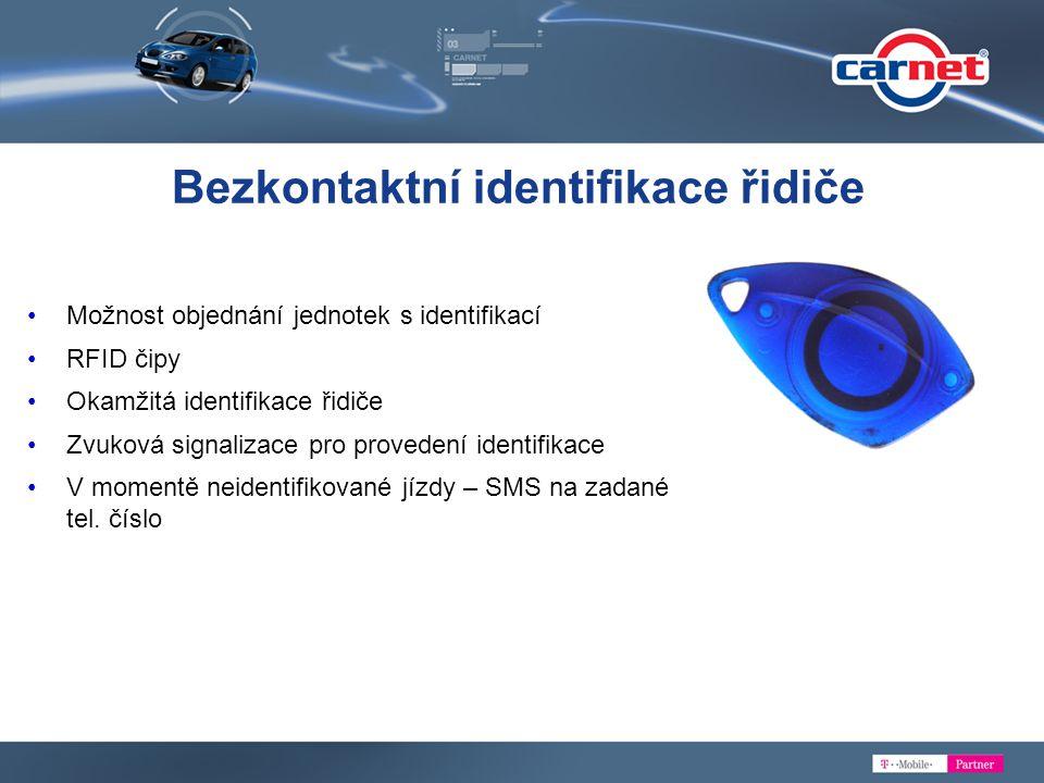 Bezkontaktní identifikace řidiče