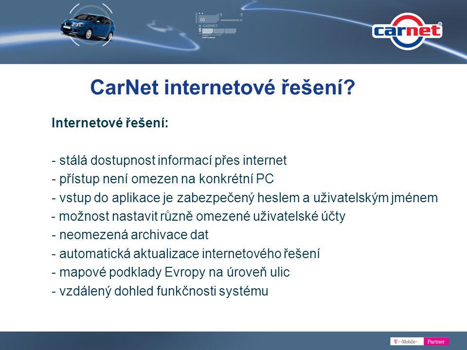 CarNet internetové řešení