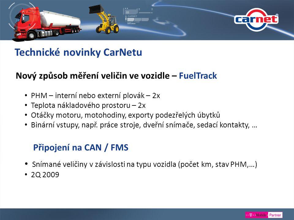 Technické novinky CarNetu