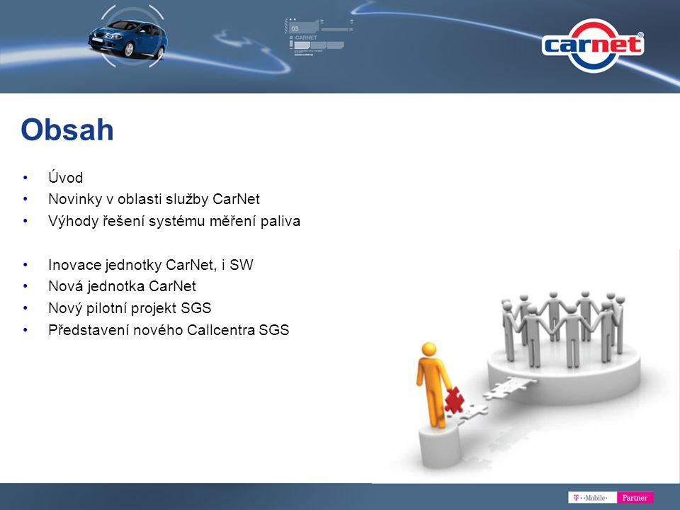 Obsah Úvod Novinky v oblasti služby CarNet
