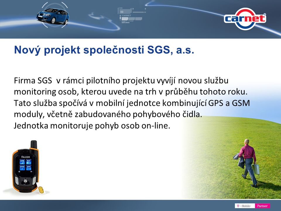 Nový projekt společnosti SGS, a.s.