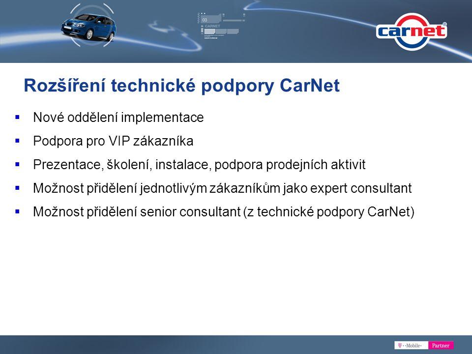 Rozšíření technické podpory CarNet