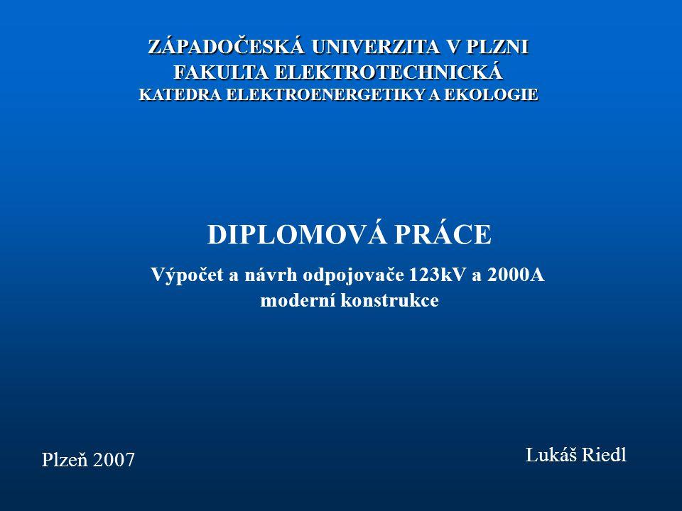 Výpočet a návrh odpojovače 123kV a 2000A