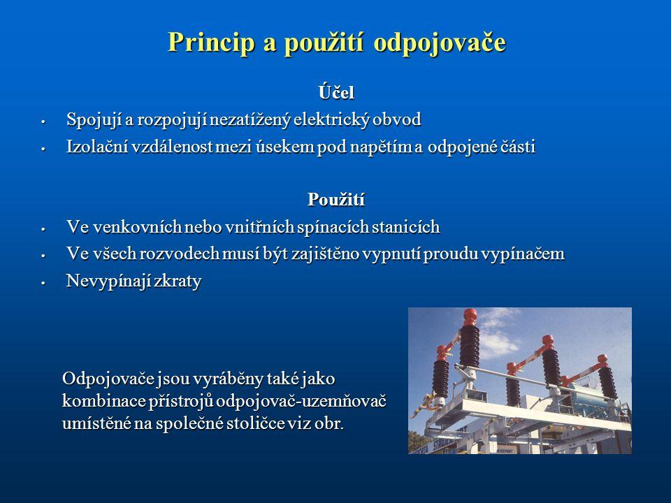 Princip a použití odpojovače