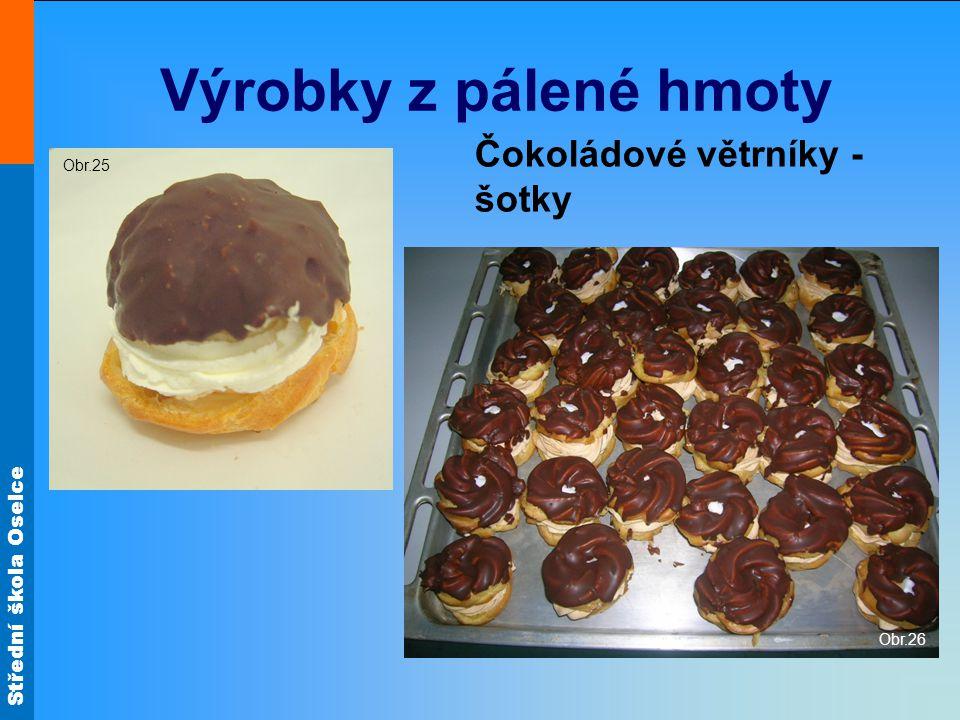 Výrobky z pálené hmoty Čokoládové větrníky - šotky Obr.25 Obr.26