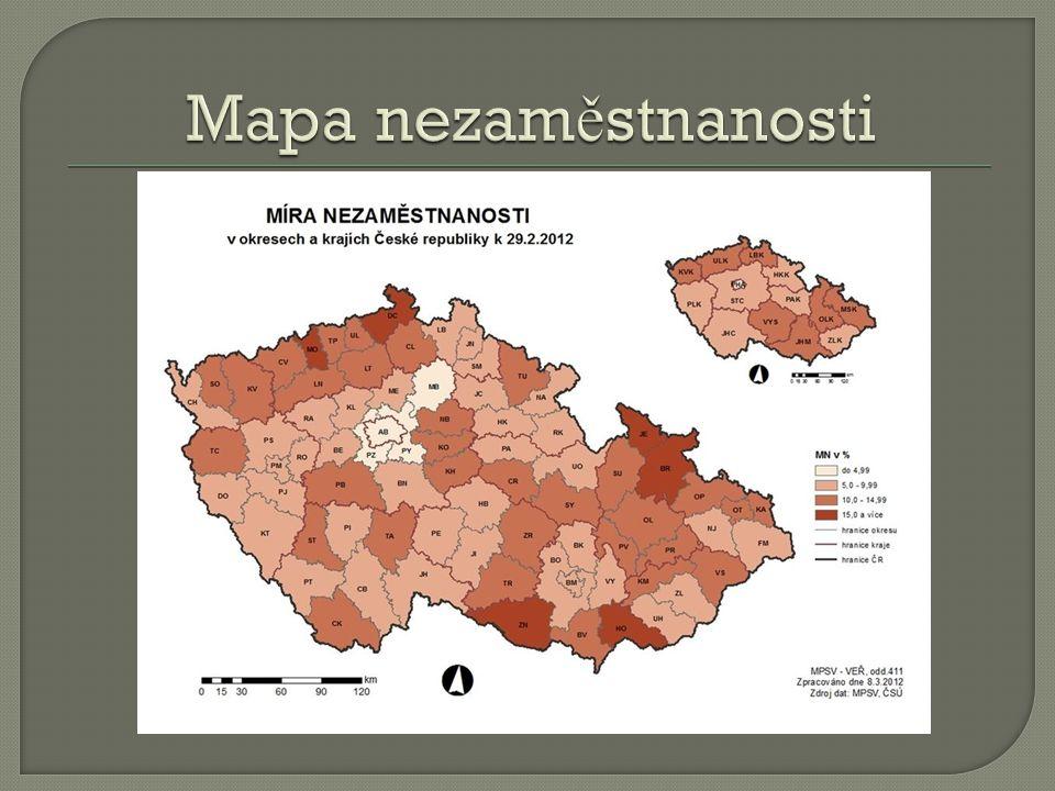Mapa nezaměstnanosti