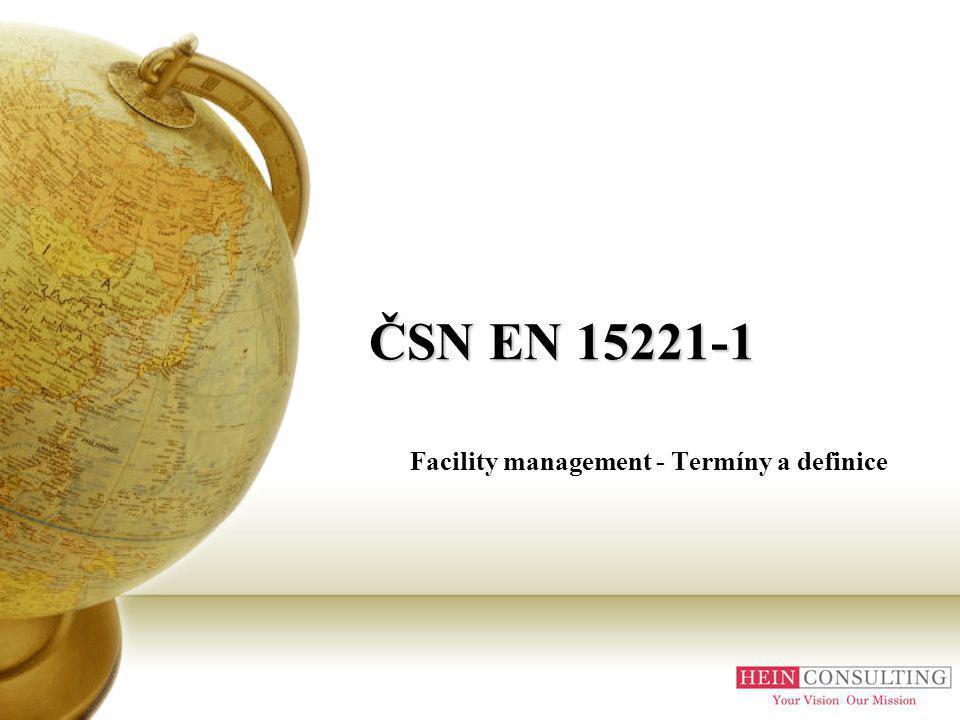 Facility management - Termíny a definice