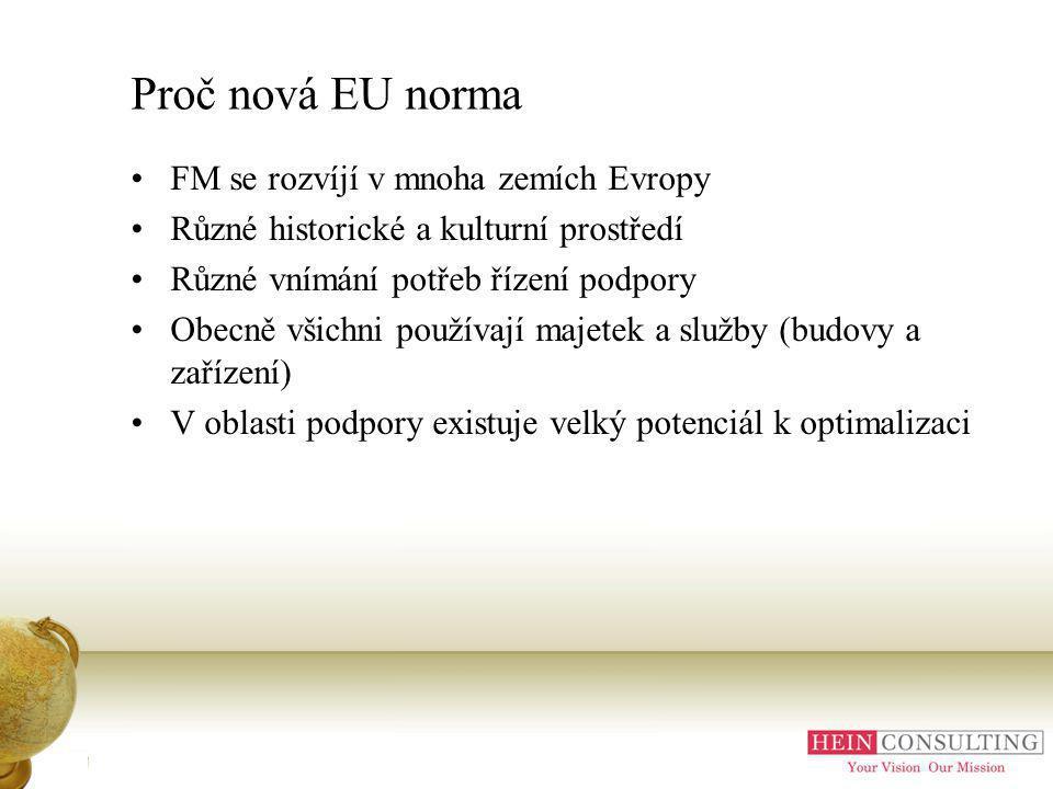 Úvod Proč nová EU norma FM se rozvíjí v mnoha zemích Evropy