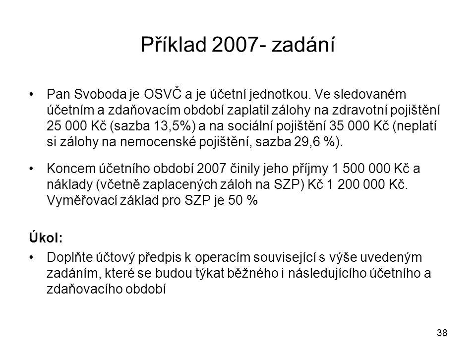 Příklad 2007- zadání