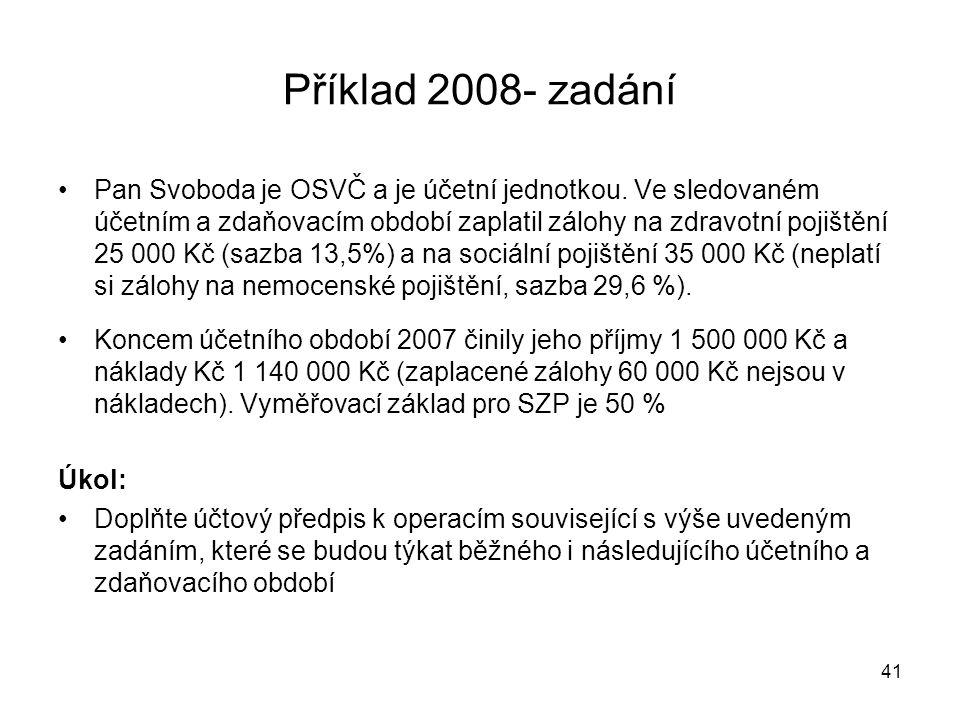 Příklad 2008- zadání