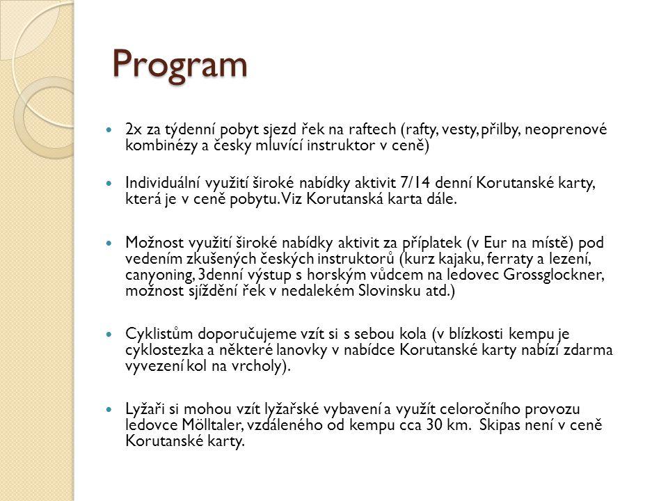Program 2x za týdenní pobyt sjezd řek na raftech (rafty, vesty, přilby, neoprenové kombinézy a česky mluvící instruktor v ceně)