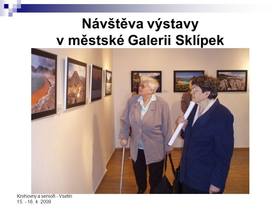 Návštěva výstavy v městské Galerii Sklípek