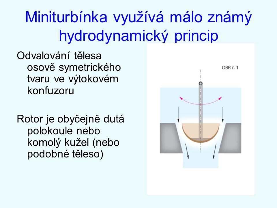 Miniturbínka využívá málo známý hydrodynamický princip