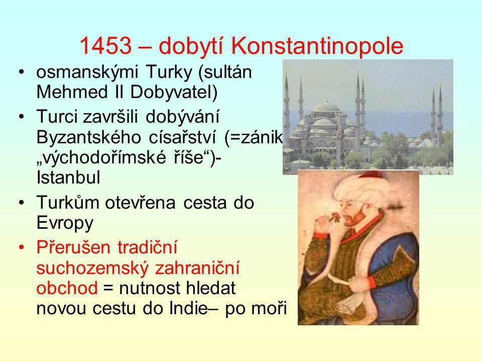 1453 – dobytí Konstantinopole