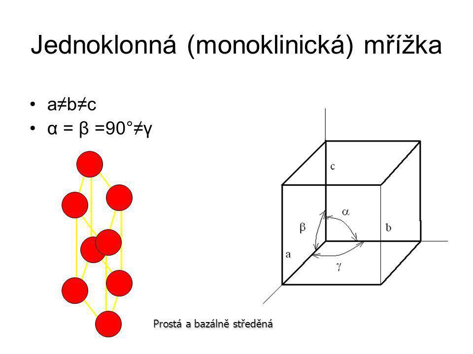 Jednoklonná (monoklinická) mřížka