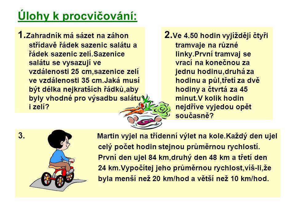 Úlohy k procvičování: