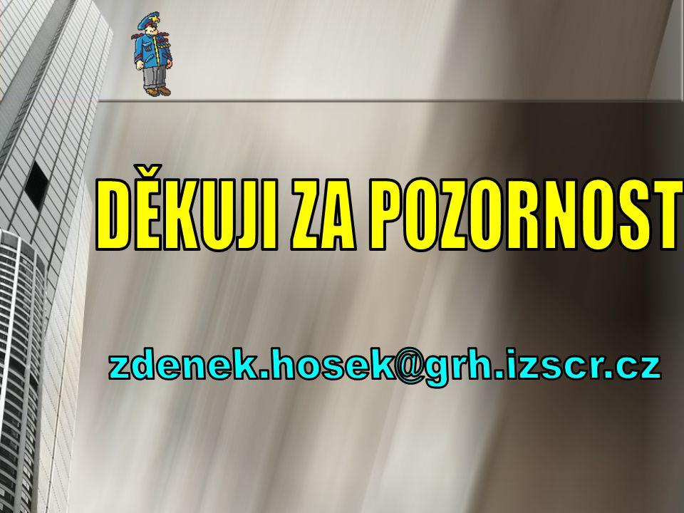 DĚKUJI ZA POZORNOST zdenek.hosek@grh.izscr.cz