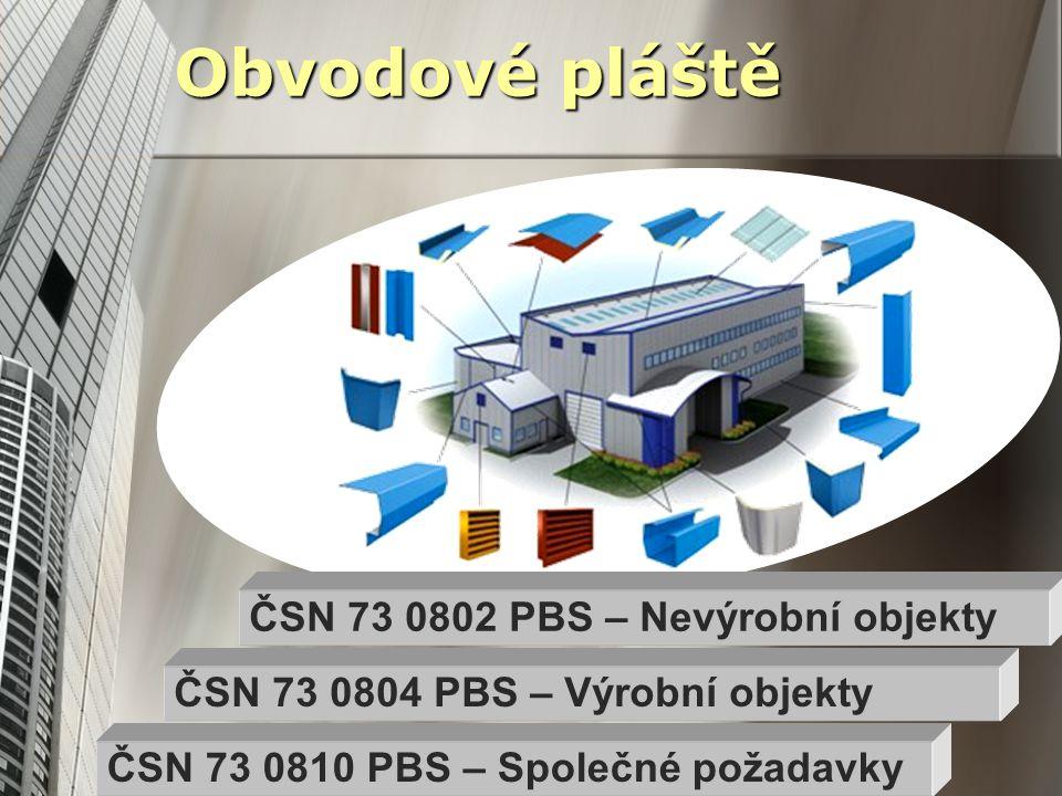 Obvodové pláště ČSN 73 0802 PBS – Nevýrobní objekty