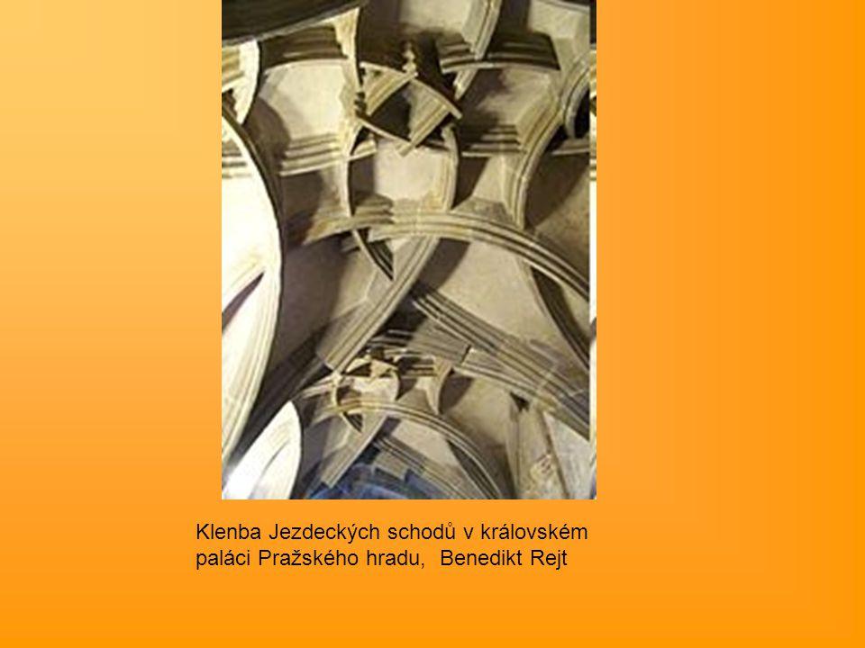 Klenba Jezdeckých schodů v královském paláci Pražského hradu, Benedikt Rejt
