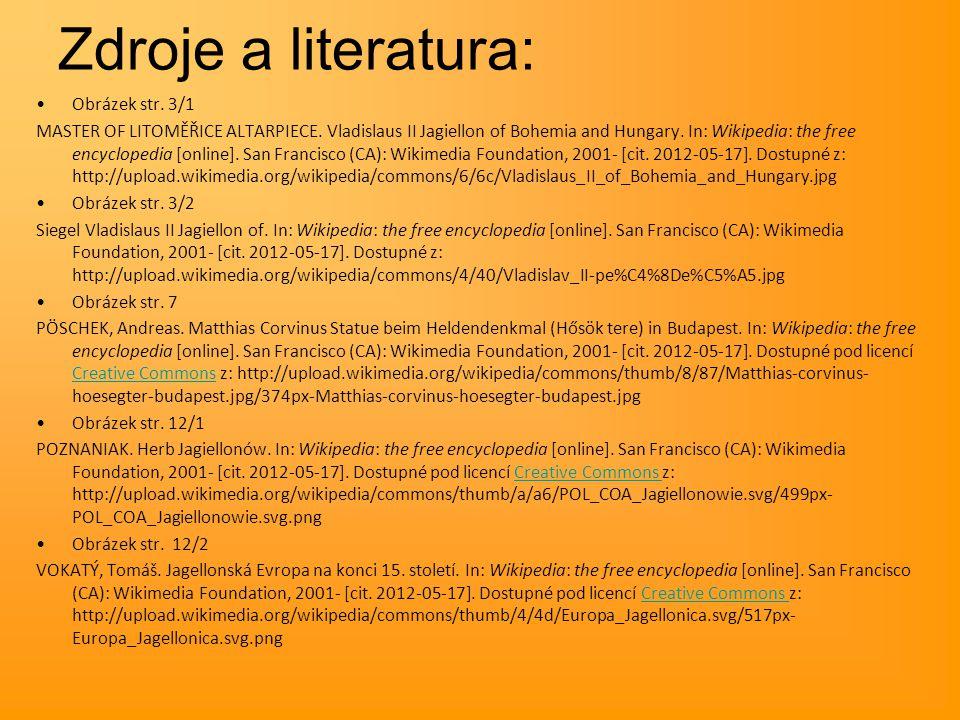 Zdroje a literatura: Obrázek str. 3/1