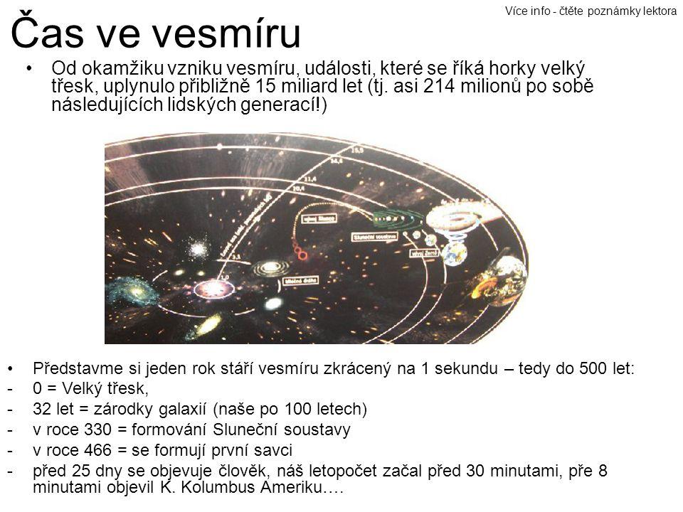 Čas ve vesmíru Více info - čtěte poznámky lektora.
