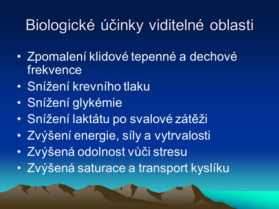 Biologické účinky viditelné oblasti