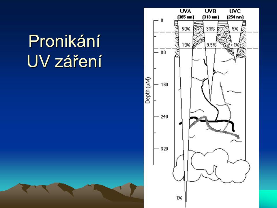 Pronikání UV záření