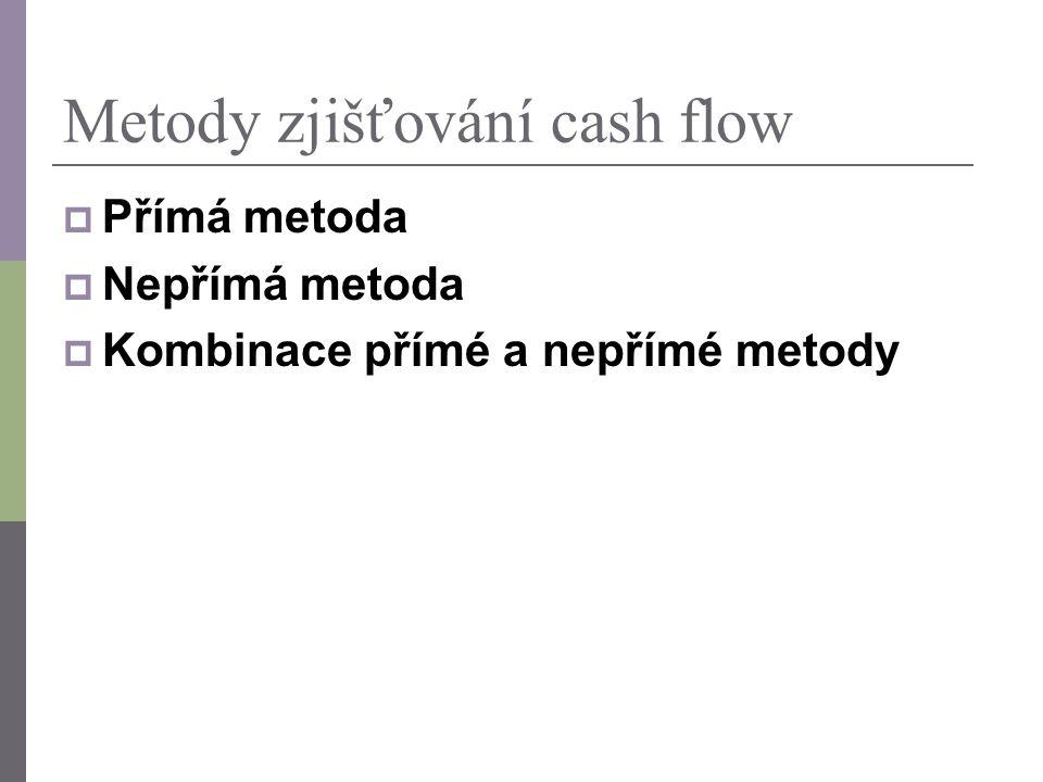 Metody zjišťování cash flow
