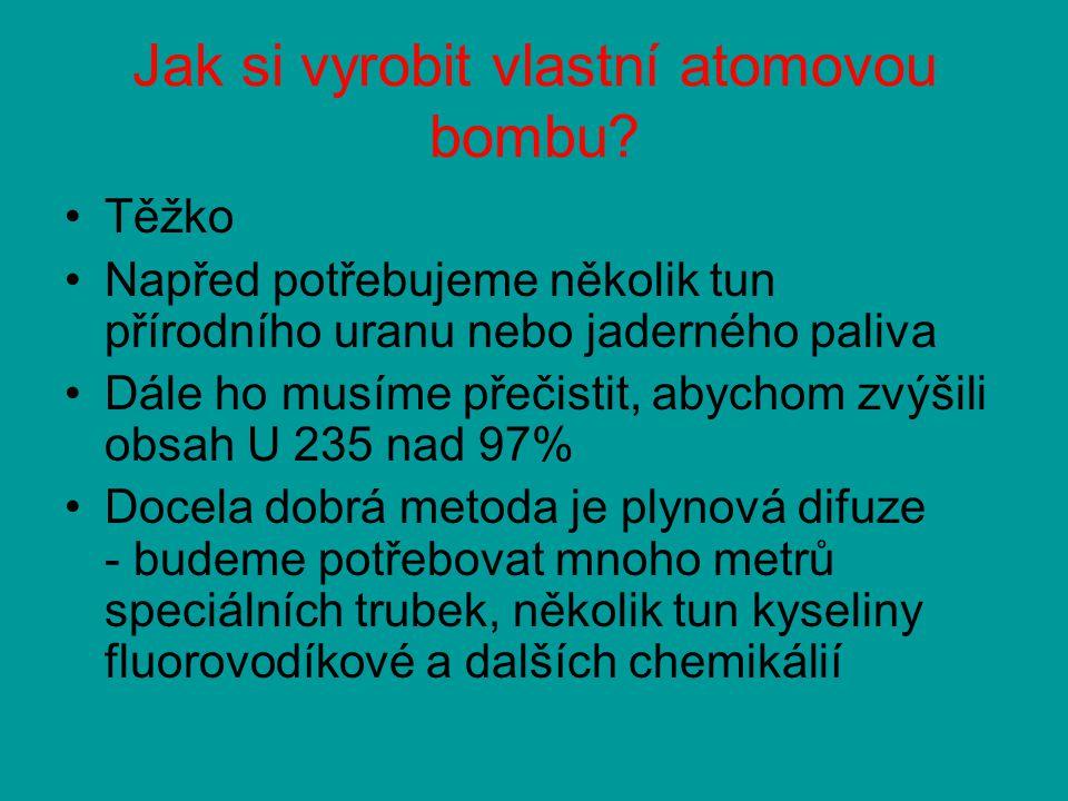 Jak si vyrobit vlastní atomovou bombu