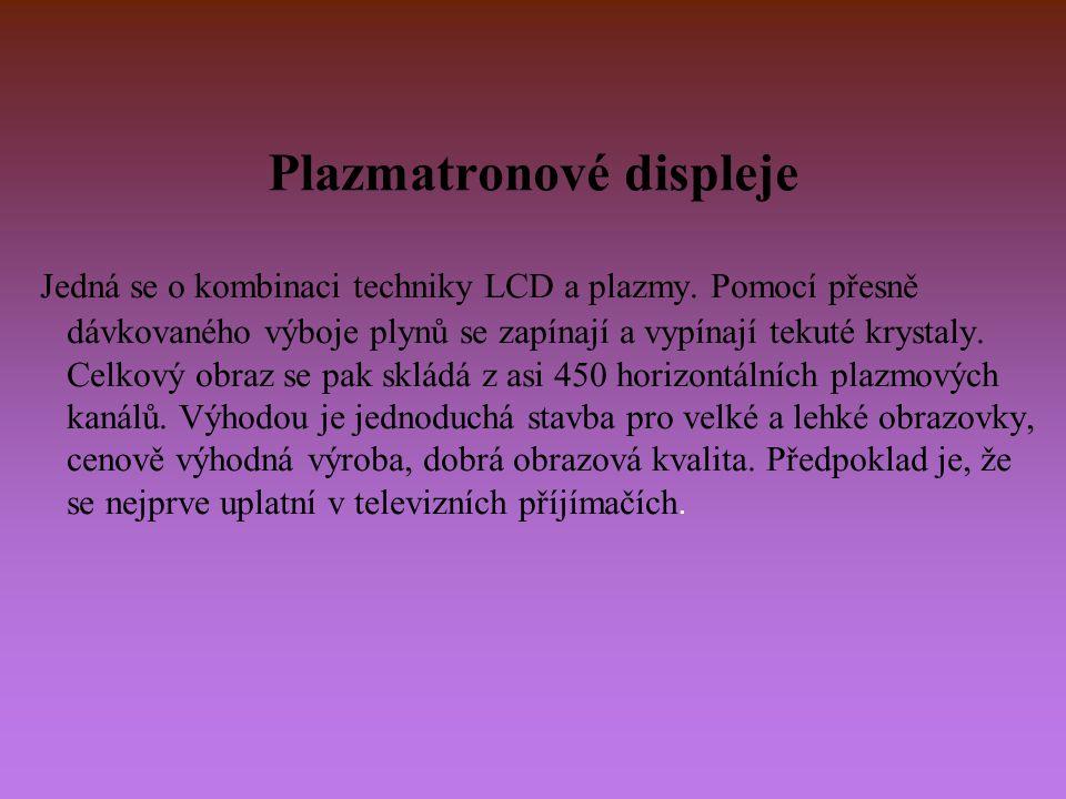 Plazmatronové displeje