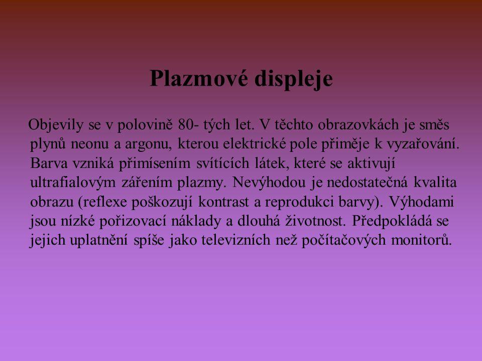 Plazmové displeje